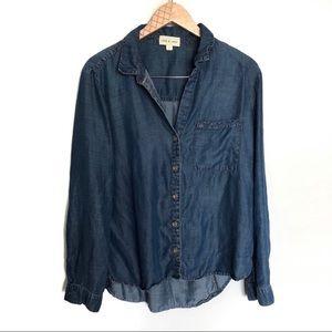 Cloth & stone Denim Chambray Button Down Shirt